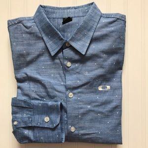 OAKLEY Long Sleeve Button Down Shirt!   L